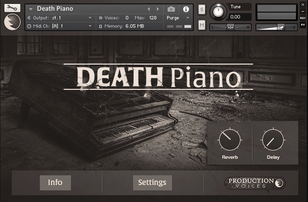 Production Voices Death Piano Kontakt Library - Freshstuff4you