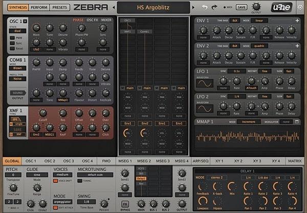U-he Zebra 2 v2.9.0.9436 For WIN & MacOSX