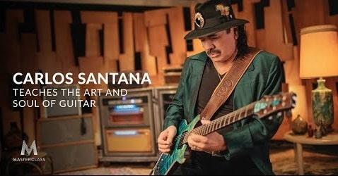 MasterClass Carlos Santana Teaches The Art And Soul Of Guitar TUTORIAL