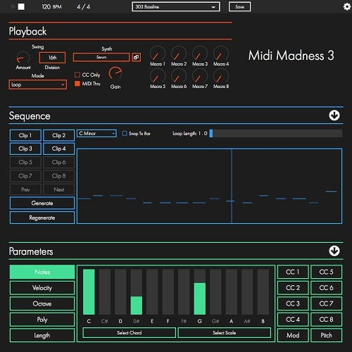 Midi Madness Software Midi Madness v3 0 5 WIN OSX