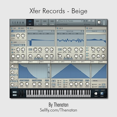 Thenatan Xfer Records Beige Serum Skin - Freshstuff4you