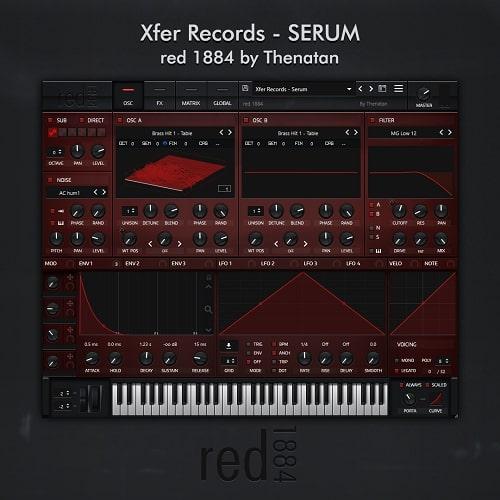 Thenatan Xfer Records Red 1884 Serum SKin