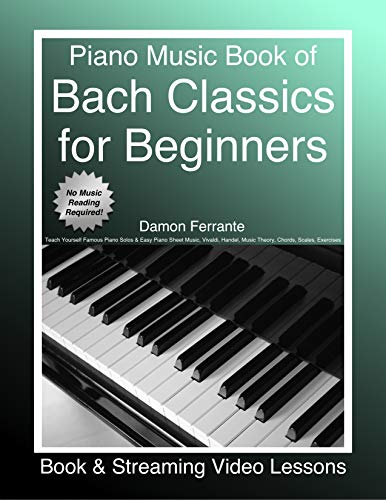 Piano Music Book of Bach Classics for Beginners PDF
