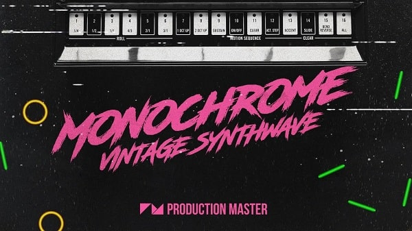Monochrome - Vintage Synthwave Sample Pack WAV