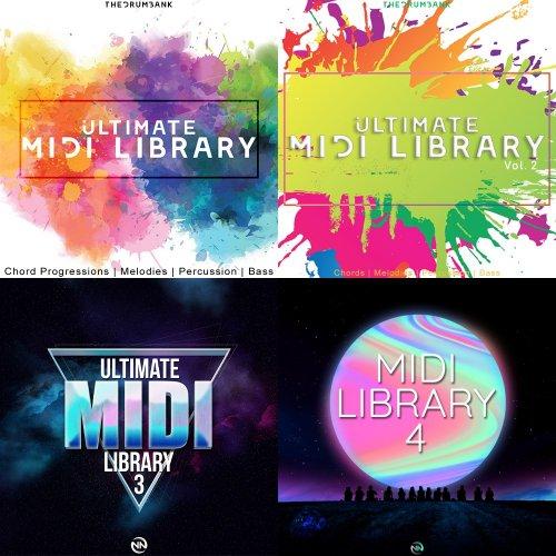 TheDrumBank Ultimate Midi Library Volume 1-4 WAV MIDI
